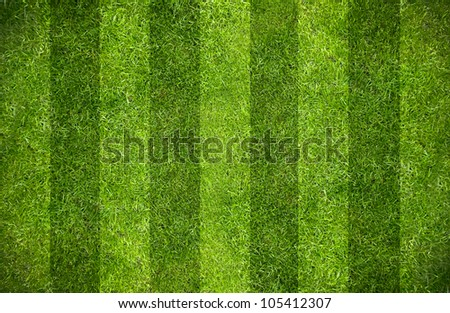 Green grass natural background. Football field. Top view. - stock photo