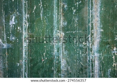 Green grungy old metal background - stock photo