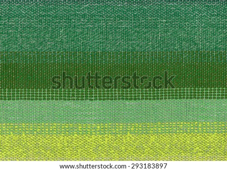 Green hand-woven fabric - stock photo