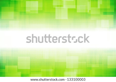 green hi-tech abstract background - stock photo