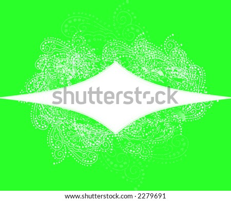Green Holiday Announcement banner - stock photo