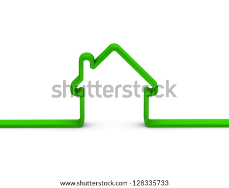 green home sign on a white background - stock photo