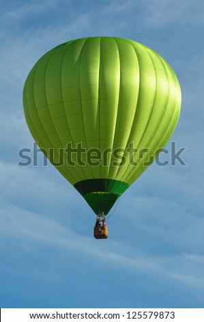 Green Hot Air Balloon - stock photo