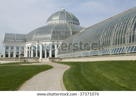 green house dome - stock photo