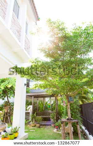 Green house garden - stock photo