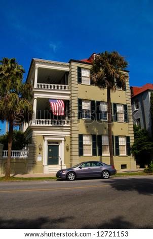 Green House in Charleston, SC - stock photo