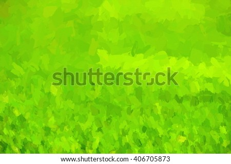 green impasto canvas - illustration based on own photo image - stock photo