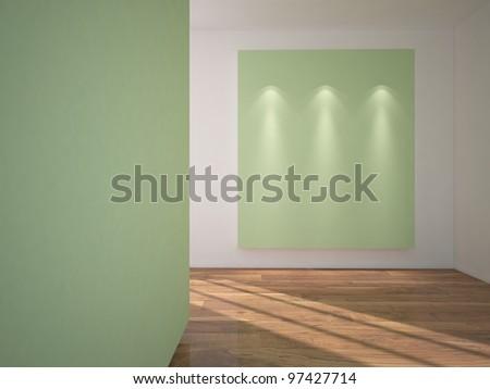 green interior - stock photo