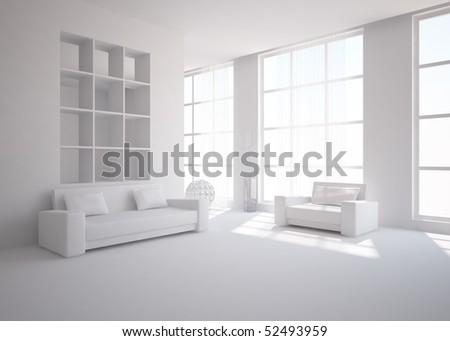 green interior concept - stock photo