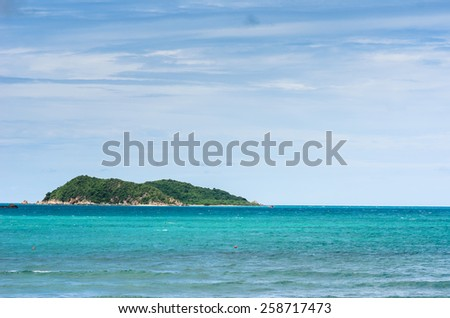 Green island and sea nature landscape in Thailand - stock photo