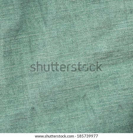 green jeans fabric texture - stock photo