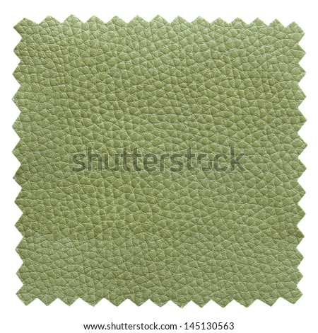 green leather samples texture - stock photo