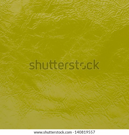 Green leather texture closeup background. - stock photo