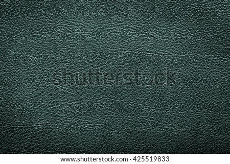 Green leather texture or leather background for design with copy space for text or image. - stock photo