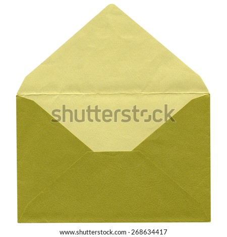Green letter envelope isolated over white background - stock photo