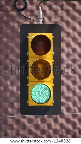 Green Light - stock photo