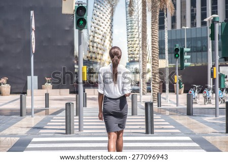 Green light for Business meeting. African businesswoman business - stock photo