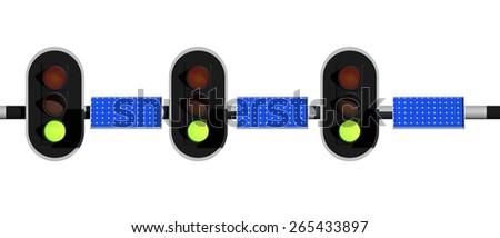 green light for solar energy - stock photo