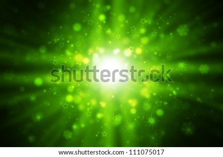 green light with star background. - stock photo