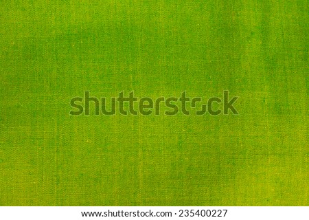 green linen texture of background - stock photo