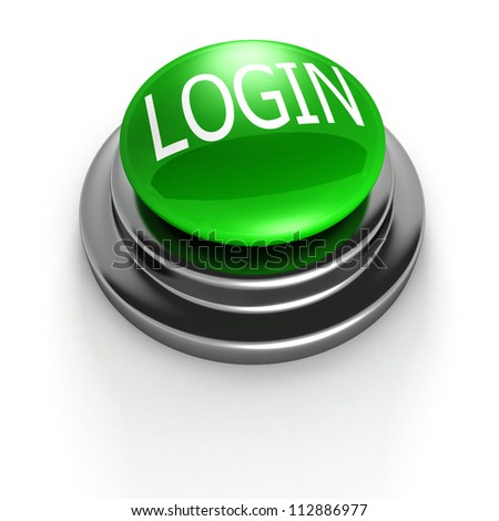 Login Buttons Images Green Login Button on White