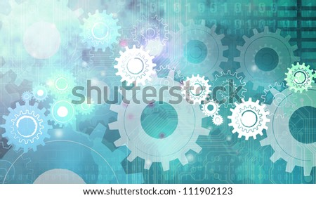 Green Machine Gear Wheel Cogwheel - stock photo