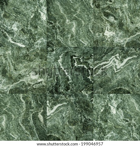 Green marble tiles texture - stock photo