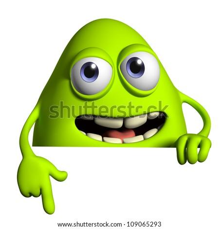 green monster - stock photo