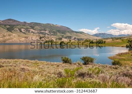 Green Mountain Reservoir south of Kremmling Colorado. - stock photo