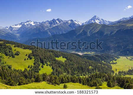 green mountain valley - stock photo