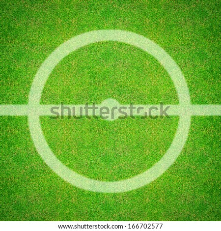 green natural grass of a Football playground  - stock photo