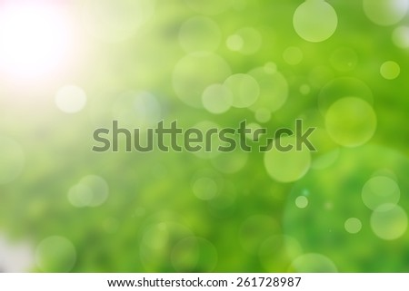 green nature bokeh background abstract - stock photo
