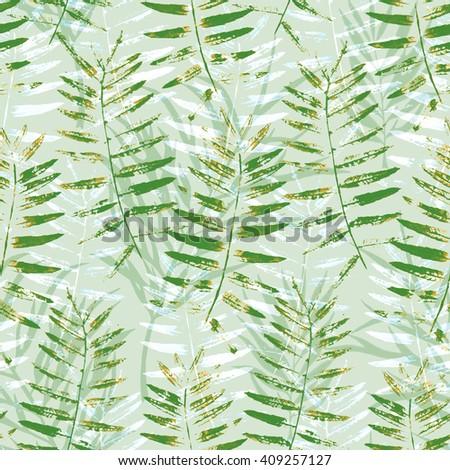 green nature pattern - stock photo