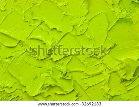 green oil paint abstract background - stock photo