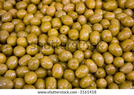 green olives - stock photo