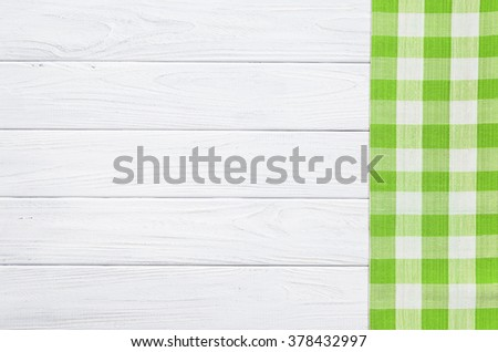 Green on the old wooden table. - stock photo