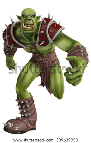 green orc - stock photo