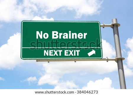 Green overhead road sign with a Healthy Solutions Next Exit concept against a partly cloudy sky background. - stock photo