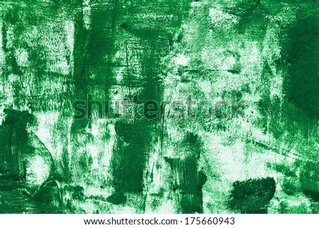 Green paint on the wall - stock photo