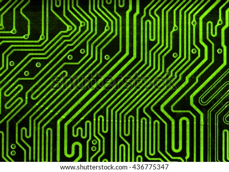 green pcb motherboard abstract background pattern  - stock photo