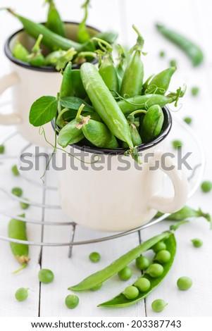 Green peas - stock photo