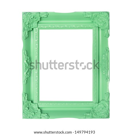 green  picture frames - stock photo