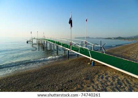 green pier in turkey - stock photo