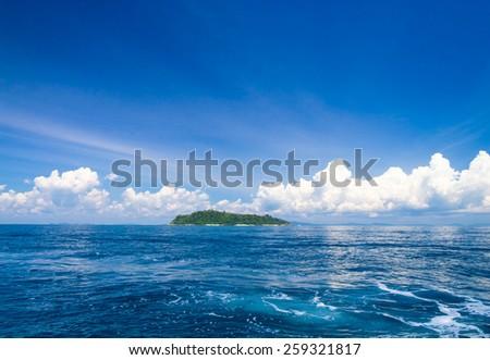 Green Pinnacle Sea Scene  - stock photo
