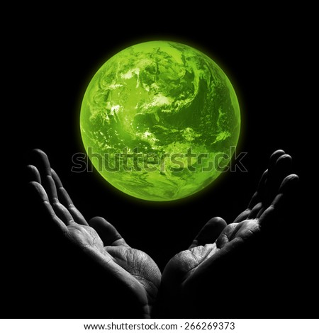 Green planet. Elements of this image furnished by NASA - stock photo