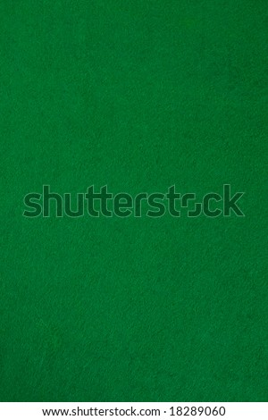 Green poker table. Nice for background. Top view. - stock photo