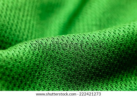 Green polyester  - stock photo