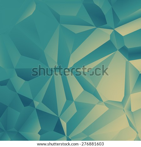 green polygonal background - stock photo