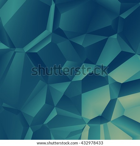 green polygonal background - stock photo