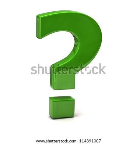 Question Mark Person Green Question Mark SignQuestion Mark Person Green
